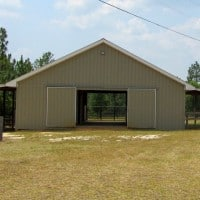 front of barn - Aiken Horse Farm for Sale