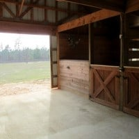 barn into pasture