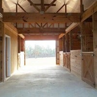Full View of Inside Barn